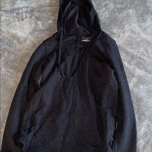 Black big opening hoodie